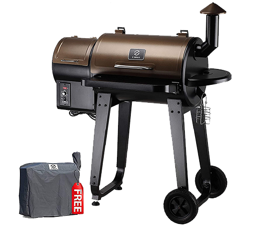 7.Z GRILLS ZPG-450A 2020 Upgrade Wood Pellet Grill & Smoker 6 in 1 BBQ Grill Auto Temperature Control, 450 sq.in. Bronze